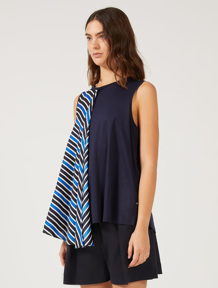 Layered Stripe Trapeze Top