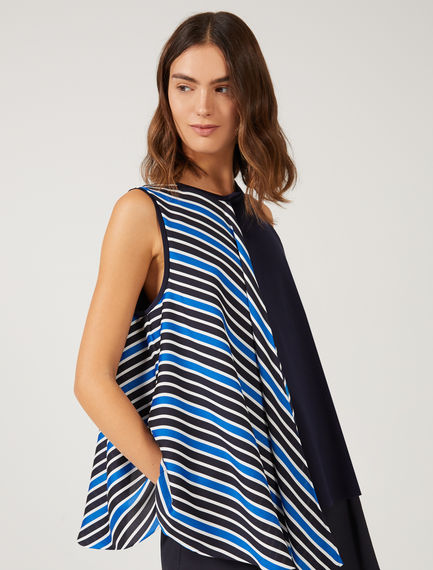 Layered Stripe Trapeze Top Sportmax