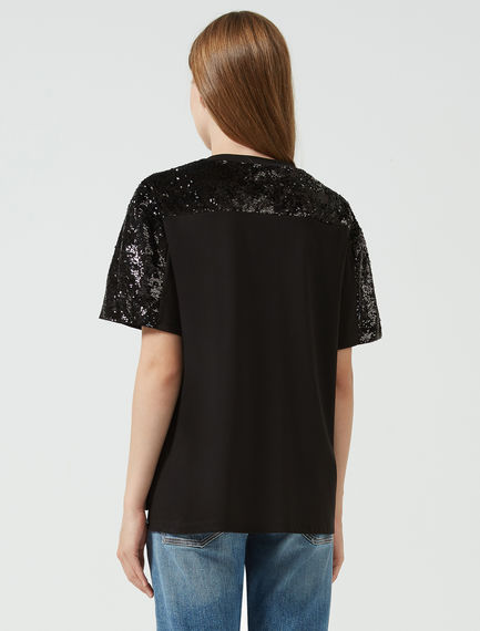 Sequined Slouchy T-shirt