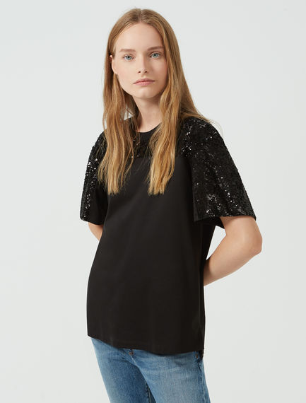 Sequined Slouchy T-shirt Sportmax
