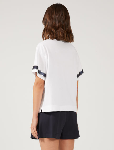 Nautical Stripe Sequin T-shirt Sportmax