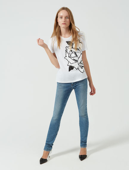 Geometric Sequin T-shirt