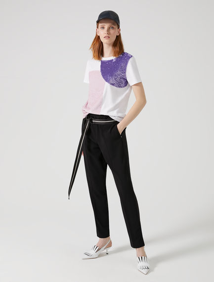 Geometric Sequin T-shirt Sportmax