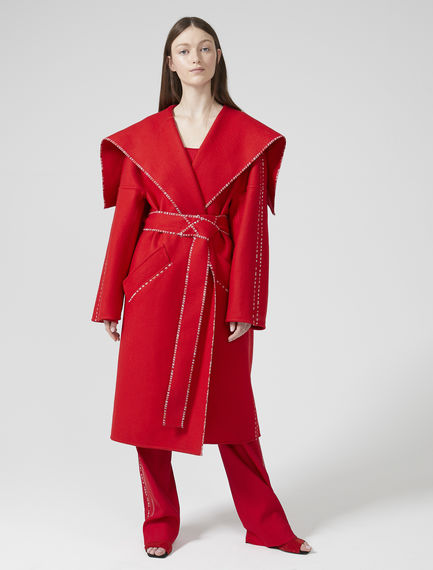 Wool & Cashmere Wrap Coat
