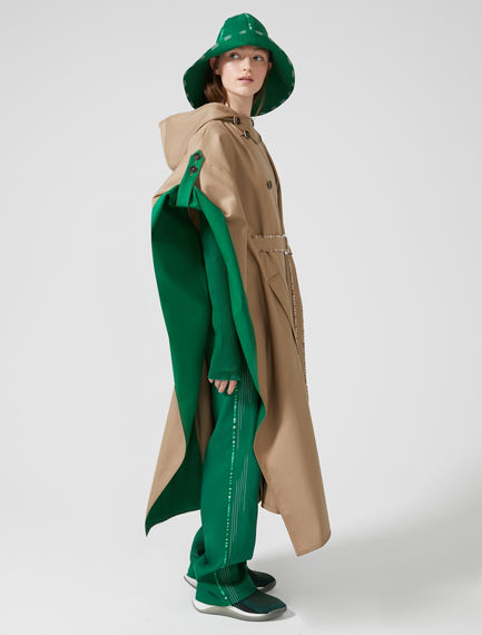Double-Breasted Cotton Poncho Sportmax