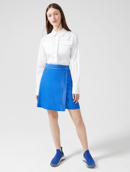 Wraparound Cotton Miniskirt