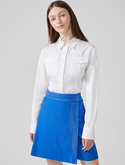 Pleated Cotton Poplin Shirt Sportmax