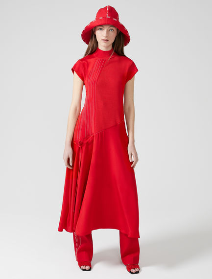 Asymmetric Silk & Viscose Dress Sportmax
