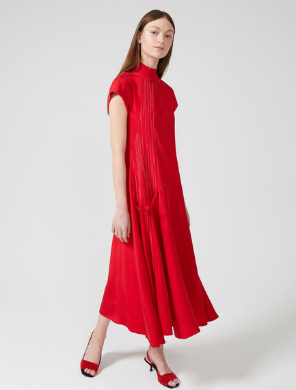 Asymmetric Silk & Viscose Dress