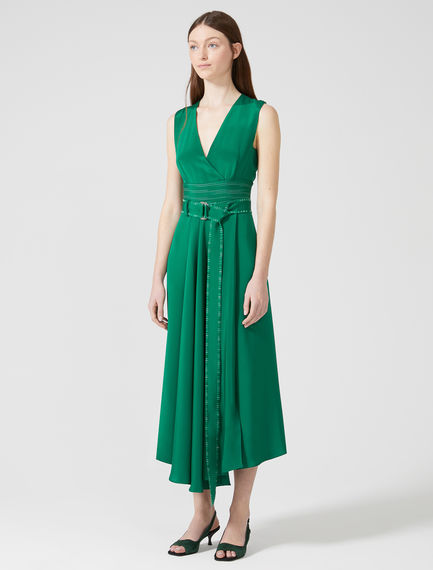 Sleeveless Silk Crêpe de Chine Dress