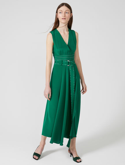 Sleeveless Silk Crêpe de Chine Dress Sportmax