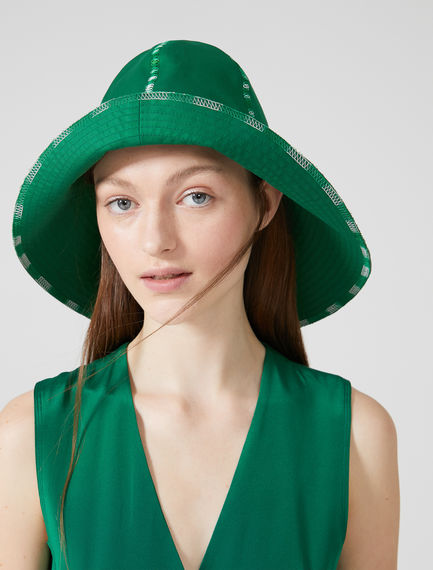 Asymmetric Wide Brim Hat