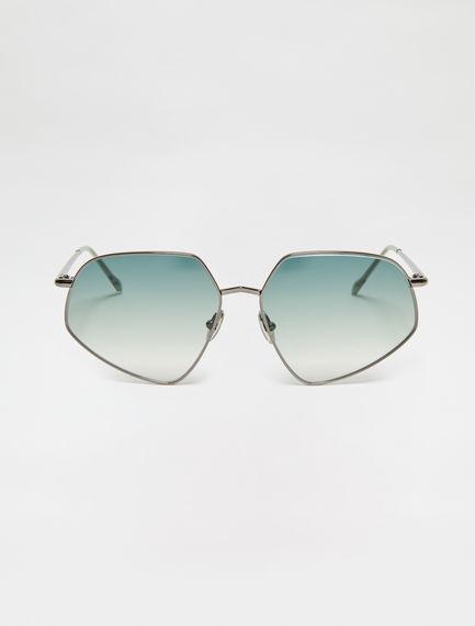 Metal-frame Geometric Sunglasses