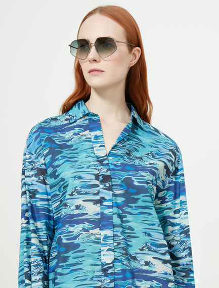 Metal-frame Geometric Sunglasses Sportmax