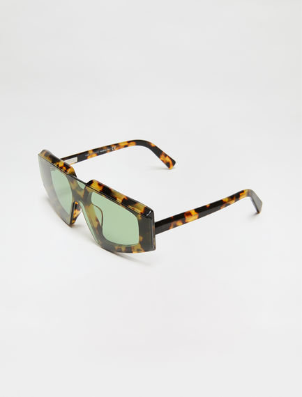One-piece Square Acetate Sunglasses
