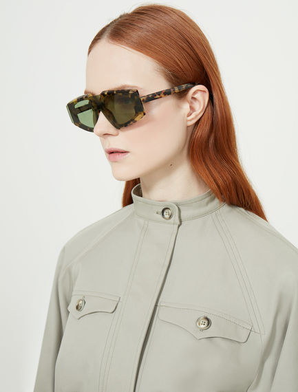 One-piece Square Acetate Sunglasses Sportmax