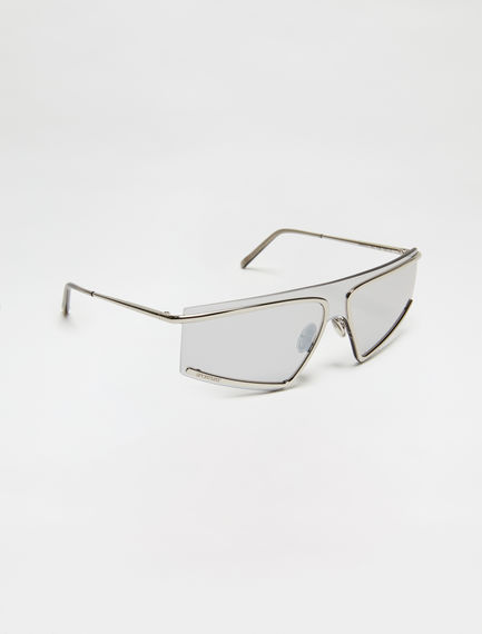 Rimless One-piece Square Sunglasses