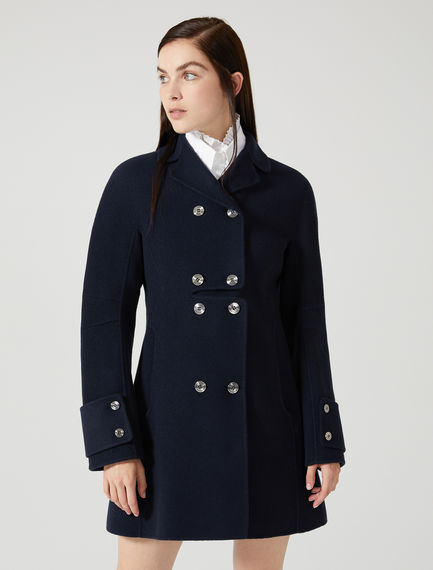 Double-Breasted Cashmere Wool Coat