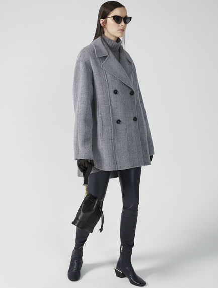 Oversized Wool Pea Coat