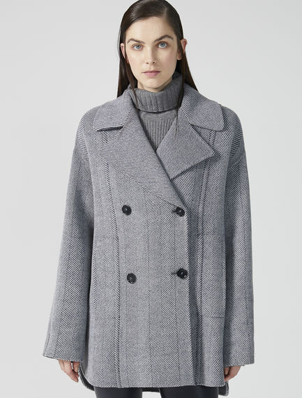 Oversized Wool Pea Coat Sportmax