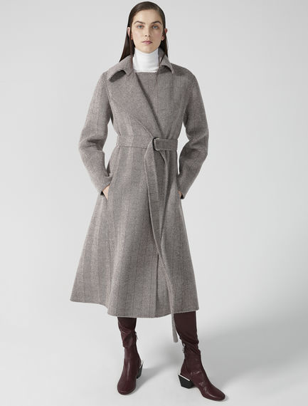 Chevron Wool Wrap Coat Sportmax