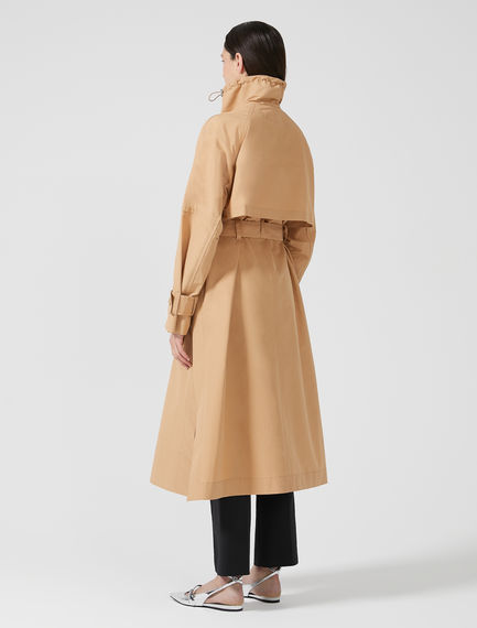 Drawstring Neck Trench Coat