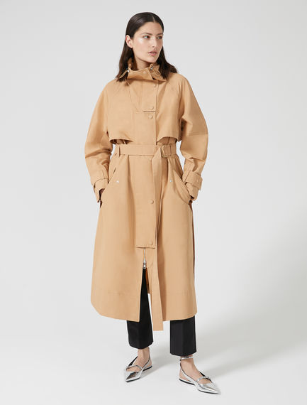 Drawstring Neck Trench Coat Sportmax