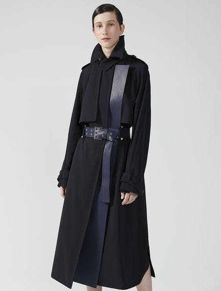 Trimmed Wool Trench Coat Sportmax