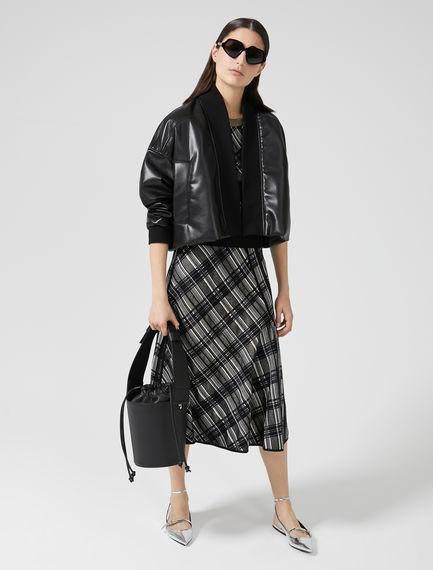 Cropped Eco Leather Jacket