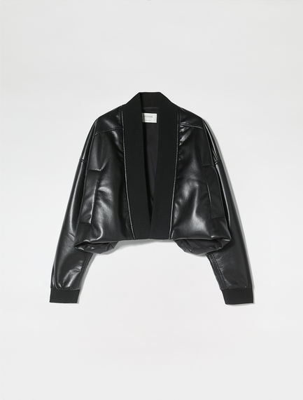 Cropped Eco Leather Jacket Sportmax