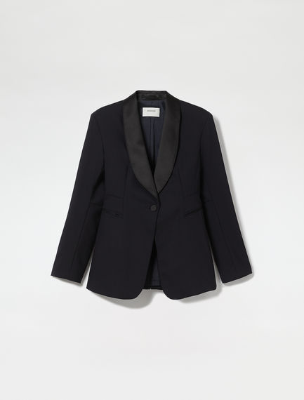 Wool & Satin Smoking Jacket
