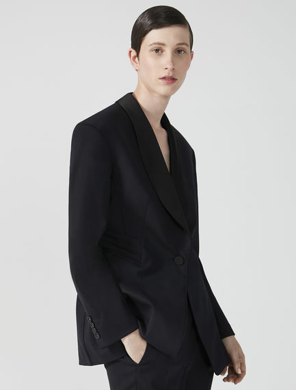 Wool & Satin Smoking Jacket Sportmax
