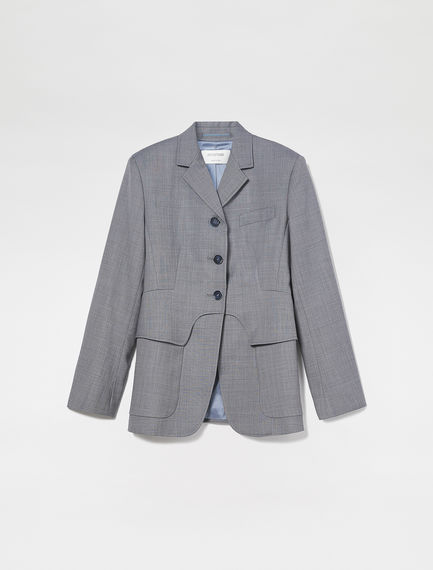 Tailored Layered Wool Blazer Sportmax