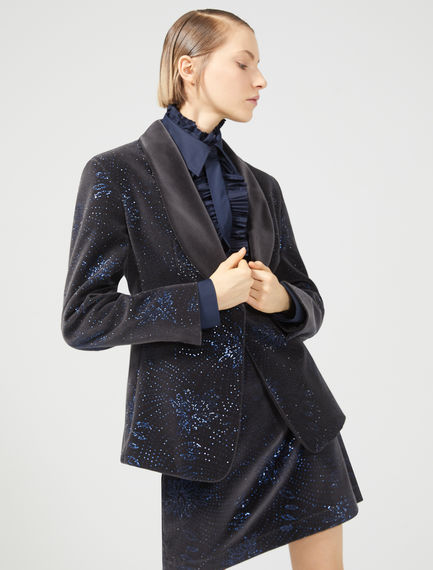 Embellished Velvet Tuxedo Sportmax