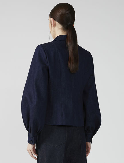 Denim Puff Sleeve Blazer Sportmax
