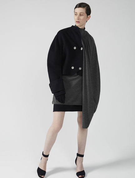 Kimono Sleeve Cropped Wool Jacket