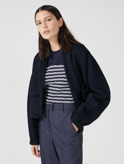 Cropped Kimono-sleeve Cashmere Jacket Sportmax