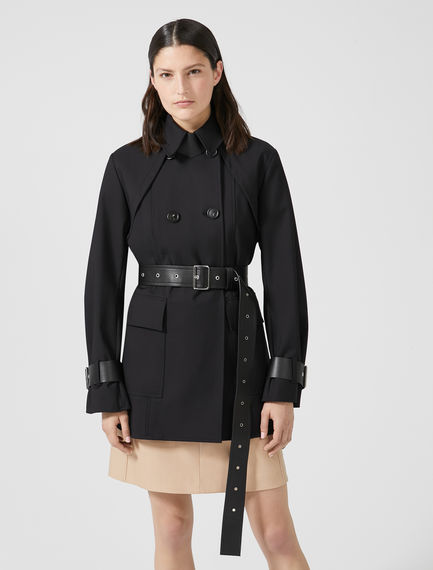 Contrast-interior Cropped Trench Coat Sportmax