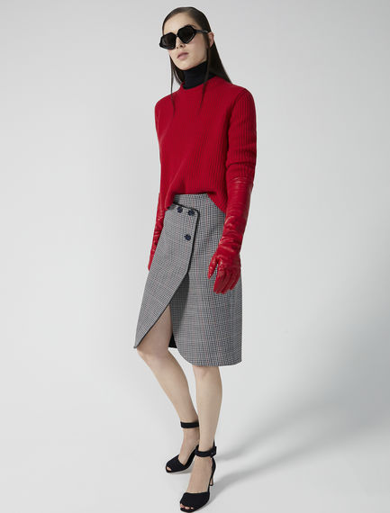 Wrap-over Wool Skirt
