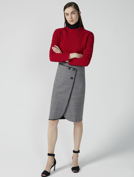 Wrap-over Wool Skirt Sportmax