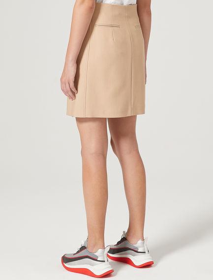 Gabardine Mini Skirt