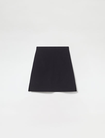 Pure Wool A-Line Mini Skirt
