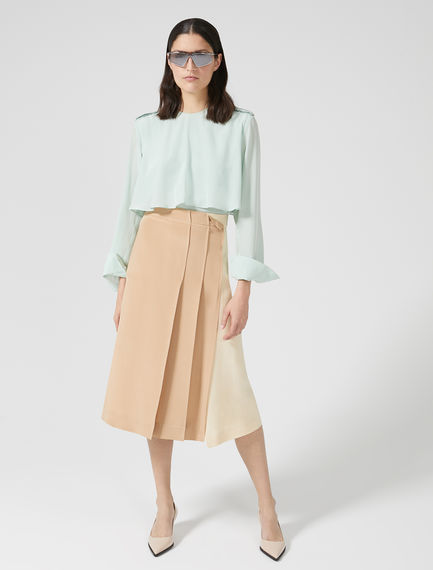Two-Tone Silk Skirt
