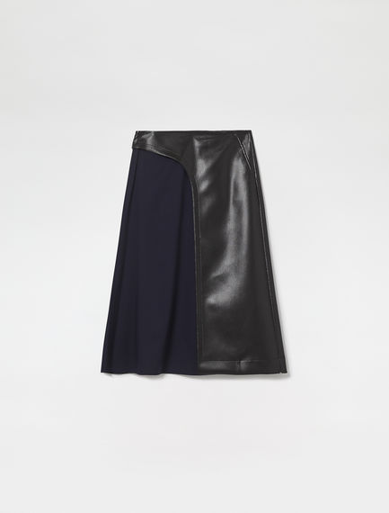 Tulle & Eco Leather Wrap Skirt
