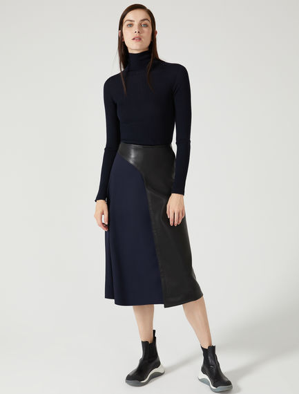 Tulle & Eco Leather Wrap Skirt Sportmax