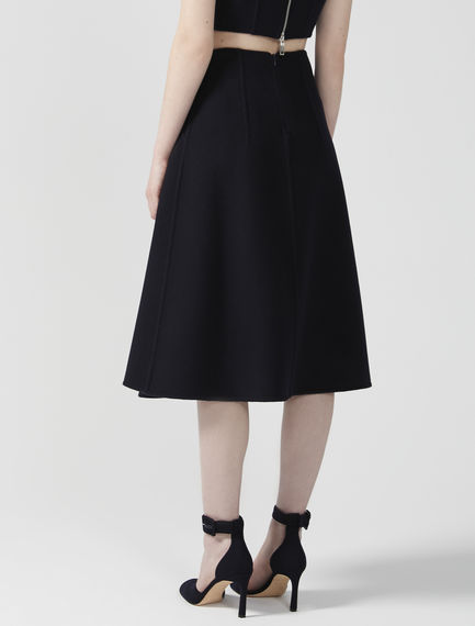 Reverse Pleat Wool Midi Skirt Sportmax