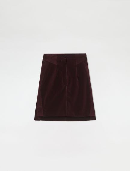 Velvet & Corduroy Mini Skirt