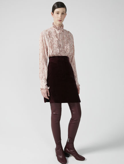 Velvet & Corduroy Mini Skirt
