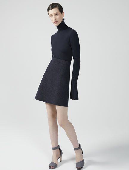 A-Line Cashmere Wool Mini Skirt Sportmax
