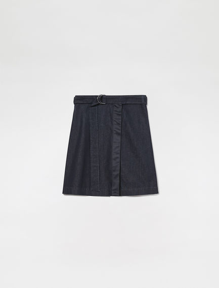 Wrapover Denim Mini Skirt